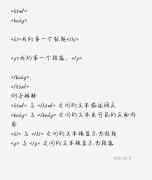 HTML教程第一章 HTML语言简介