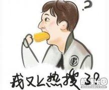 王思聪情侣头像Q版 吃玉米吃面包头像